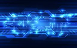 Vector Abstract futuristic circuit board, Illustration high digital technology blue color. Innovation digital system technology for background website royalty free illustration