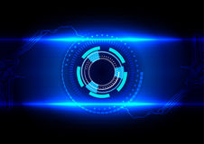 Vector Abstract futuristic circuit board technology. illustratio. N design background stock illustration