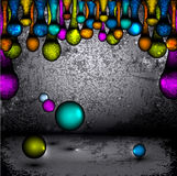 Vector abstract, futuristic grunge background Royalty Free Stock Photography