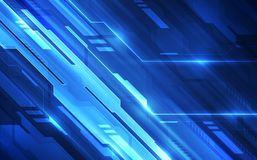 Vector Abstract futuristic high digital technology blue color background, illustration web Stock Images