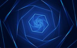 Vector Abstract futuristic high speed, Illustration high digital technology blue color. Innovation Stock Photos