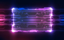 Vector Abstract futuristic technology background concept, Illustration high digital. Innovation computer electronic chip Vector Illustration