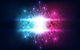 Vector Abstract futuristisch van de wetenschapstechnologie concept als achtergrond, Illustratie hoge digitaal vector illustratie