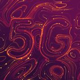 Vector abstract 5G new wireless internet connection background. Global network high speed network. Abstract 5G symbol stock illustration