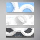 Vector abstract gem and blue ice. set Stock Images