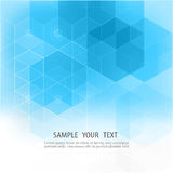 Vector Abstract geometric background Blue hexagon shape Stock Photography