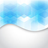 Vector Abstract geometric background. Blue hexagon shape Royalty Free Stock Photo
