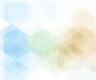 Vector Abstract geometric background. Blue hexagon shape Stock Images