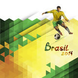 Vector abstract geometric background in Brazil color concept. Royalty Free Stock Images