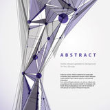 Vector abstract geometric background, contemporary style illustr Royalty Free Stock Photography