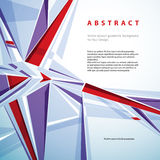 Vector abstract geometric background, contemporary style illustr Stock Photography