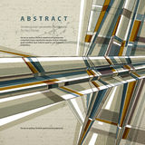 Vector abstract geometric background, contemporary Stock Photo