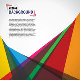 Vector abstract geometric background design Royalty Free Stock Photography