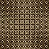 Vector abstract geometric background with ethnic ornament. Vector abstract geometric gold on black background with ethnic ornament Royalty Free Illustration