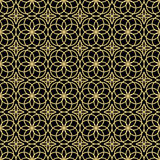 Vector abstract geometric background with ethnic ornament Royalty Free Stock Photography