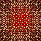 Vector abstract geometric background with ethnic ornament Royalty Free Stock Image