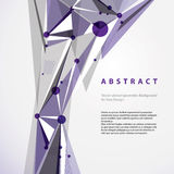 Vector abstract geometric background. Stock Photography