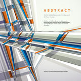 Vector abstract geometric background, modern style illustration. Royalty Free Stock Images