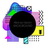 Vector Abstract geometric background. Modern and stylish abstract design poster Royalty Free Illustration