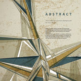 Vector abstract geometric background, technical style Stock Photography