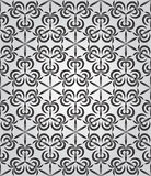 Vector abstract geometric background with techno ornament Royalty Free Stock Images