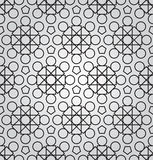 Vector abstract geometric background with techno ornament. Vector abstract geometric monochrome,seamless pattern with techno ornament Stock Photography