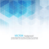 Vector Abstract geometric background. Template brochure design. Blue hexagon shape EPS10. Vector Abstract geometric background. Template brochure design. Blue Royalty Free Stock Photography