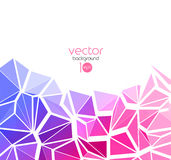Vector abstract geometric background with triangle Stock Photo