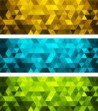 Vector abstract geometric banner with triangle. Vector color abstract geometric banner with triangle vector illustration