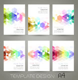 Vector abstract geometric banner with triangle. Vector color abstract geometric banner with triangle stock illustration