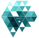 Vector abstract geometric banner with triangle. Vector color abstract geometric banner with triangle royalty free illustration