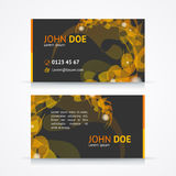 Vector abstract geometric business card template Stock Image