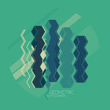 Vector abstract geometric composition Stock Image