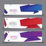 Vector abstract geometric design banner. Royalty Free Stock Photos