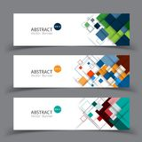 Vector abstract geometric design banner. Royalty Free Stock Images