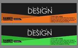 Vector abstract geometric design banner web template. Stock Photography