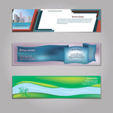Vector abstract geometric design banner web template. Vector abstract geometric design banner web template stock illustration