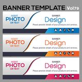 Banner Template for business designe. Vector abstract geometric design banner Web Template banner background and banner Collection for Business Designs Stock Photography