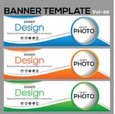 Banner Template for business designe. Vector abstract geometric design banner Web Template banner background and banner Collection for Business Designs Royalty Free Stock Images