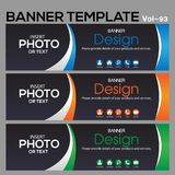 Banner Template for business designe Royalty Free Stock Photos