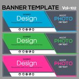 Banner Template for business designe. Vector abstract geometric design banner Web Template banner background and banner Collection for Business Designs Royalty Free Stock Photography