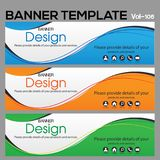 Banner Template for business designe. Vector   abstract geometric design banner Web Template banner background and banner Collection for Business Designs Royalty Free Stock Photos