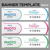 Banner Template for business designe. Vector abstract geometric design banner Web Template banner background and banner Collection for Business Designs Stock Photos