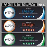 Banner Template for business designe Stock Photo
