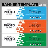 Banner Template for business designe. Vector   abstract geometric design banner Web Template banner background and banner Collection for Business Designs Stock Images