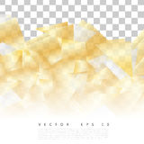 Vector 24 15.02.16. Vector abstract geometric gold background. Yellow Triangles royalty free illustration