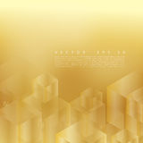 Vector abstract geometric gold background. stock illustration