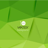 Vector abstract geometric green background. With triangle stock illustration
