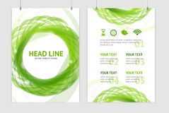 Vector abstract geometric green round brochure Royalty Free Stock Photography