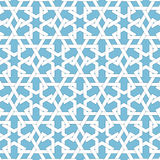 Vector abstract geometric islamic background. Based on ethnic muslim ornaments. Intertwined paper stripes. Royalty Free Stock Photography
